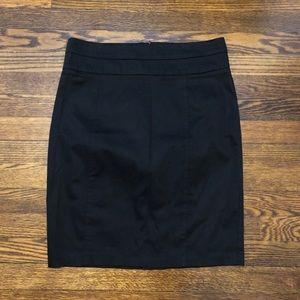 Knee Length Black Skirt